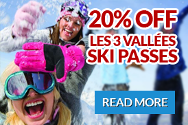 Discounted 3 valley ski passes for selected weeks
