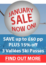 January Sale now on save up to £60pp plus 15% off Ski Passes